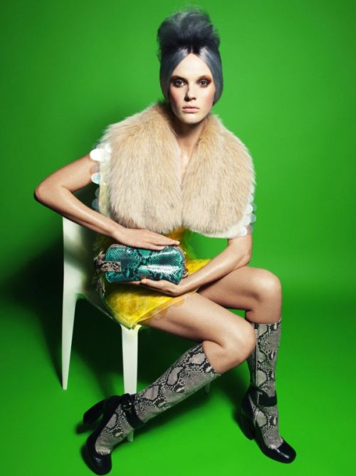 coco-lagerfeld:  Anne Vyalitsyna in Prada by Victor Demarchelier for Vogue Germany July 2011