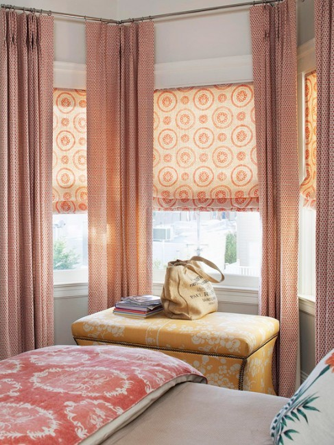 I love these fabric shades. They're quite lovely.