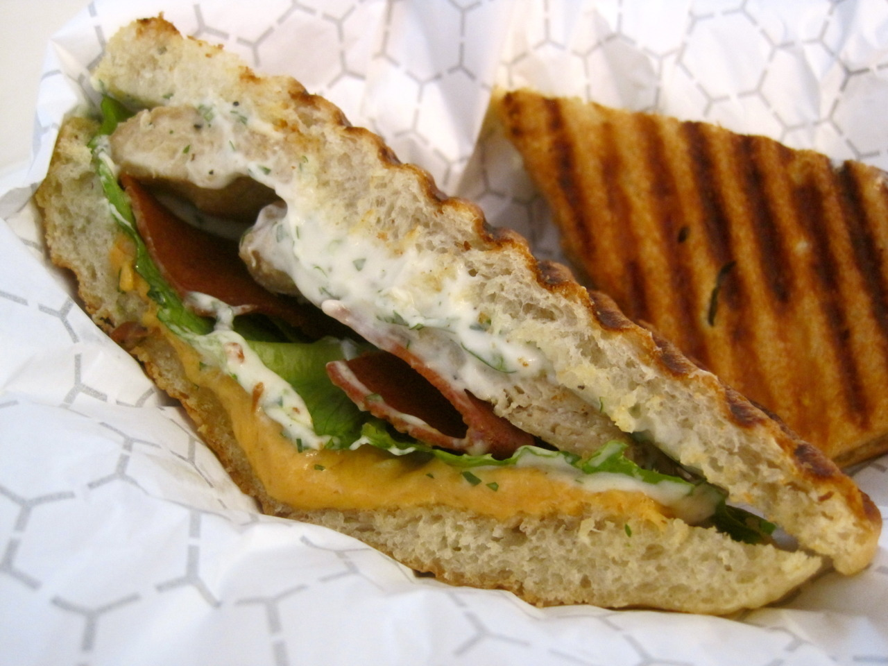 Bacon Cheddar Chicken Ranch sandwich from Terri in NYC!