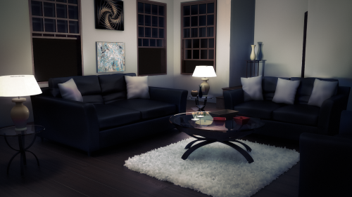 3D interior modeled and textured