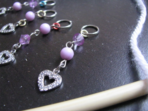 Another one of my favorite sets of stitch markers. Many more to come.