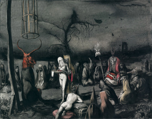 Santiago Caruso, from his Ars Obscura: Terror y Miseria (Terror and Misery) exposition.