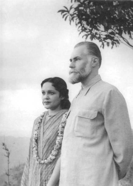 Devika Rani with her husband, Svetoslav Roerich.