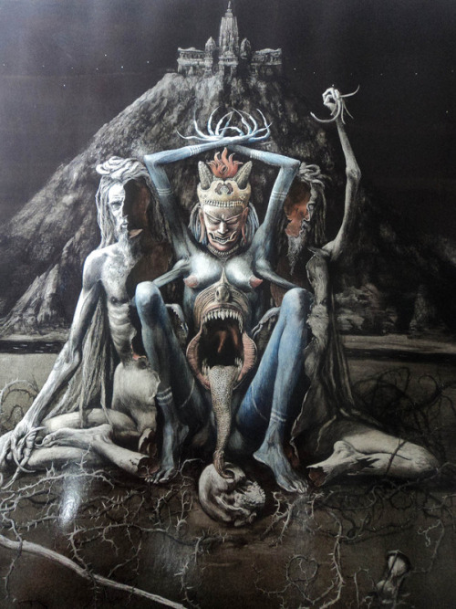 thephysicalisanillusion:  antitacta: Santiago Caruso, The Inner Prophetess.  beautiful