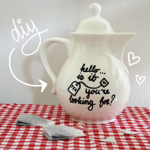 cutiemonster:  Would you like to make your own teapot like this? : by wilma.