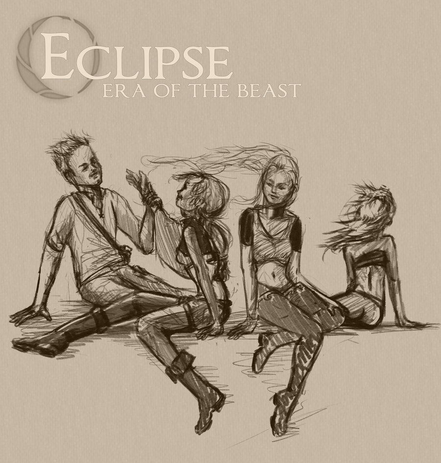 Eclipse - The Journey Begins group sketch Charlie, Olivia, Lieloe, and Tawny http://tinyurl.com/79gj7bh
