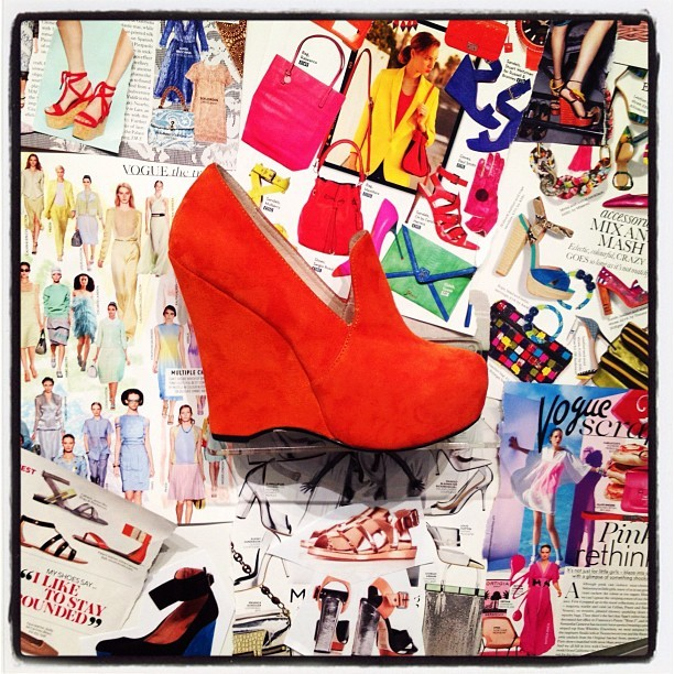 Orange you glad I'm not a banana? #orange #suede #platform (Taken with instagram)