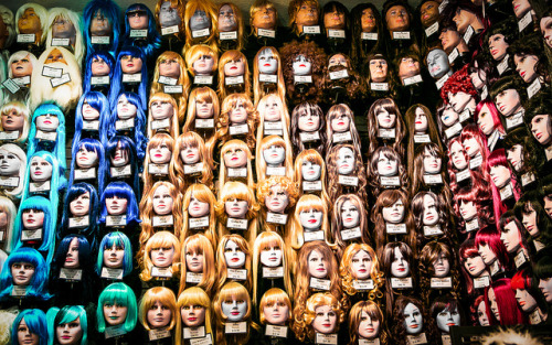 Week 22: Evangeline's Costume Mansion on Flickr.Wall of heads…