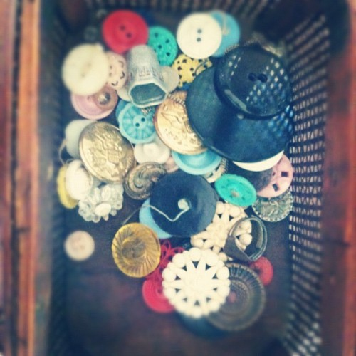 It's the little things that matter, like antique buttons from your great-grandma…