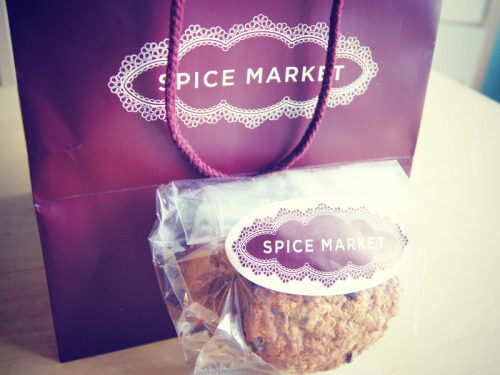 "A delicious ""Cookie Bag"" from Spice Market, one of my favorite restaurants in the city. The spicy ginger oatmeal is to-die-for! (via Sweet Little Nothings…)"
