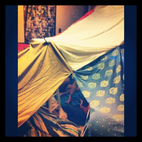 Fort in progress. (Taken with instagram)