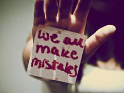 Don't keep crying because of an mistake. Learn from it and move on. Don't waste your life blaming yourself because of something that's gone.