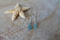 blue sea glass.