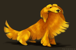 Commission of a golden retriever!