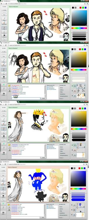 Iscribble is a difficult site to use, but I think my art has improved vastly as a result of tonight. (guagh, this is unreadable)