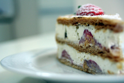 Strawberry Mille-feuille by stuckinseoul on Flickr.