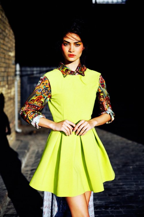 Shanina Shaik Plays it Cool in Sunday Life, Shot by Jeff Hahn http://bit.ly/MUr1Qt