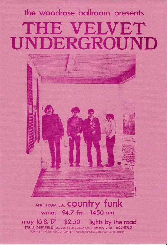 zombiesenelghetto:  The Velvet Underground, flyer advertising two shows on May 16 & 17, 1969