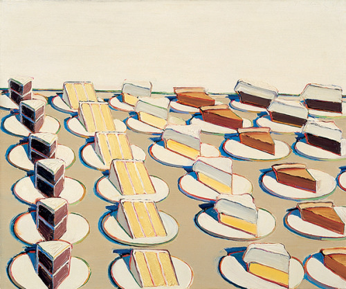 a-r-t-history:  Wayne Thiebaud, Pie Counter, 1963, oil on canvas (via Whitney Museum of American Art)