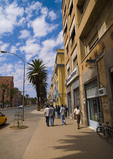 Harnet Avenue, Asmara, Eritrea by Eric Lafforgue on Flickr.