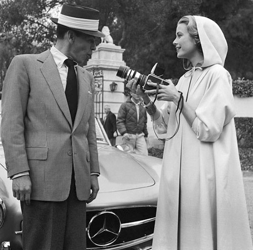 suicideblonde:  Frank Sinatra and Grace Kelly