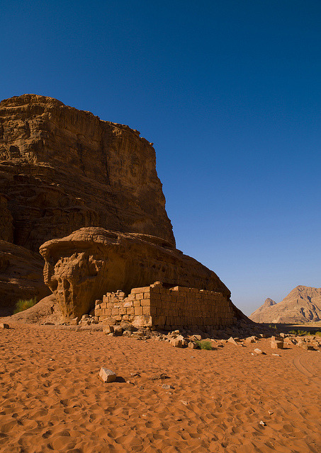 Lawrence Of Arabia's House In Wadi Rum, Jordan by Eric Lafforgue on Flickr.