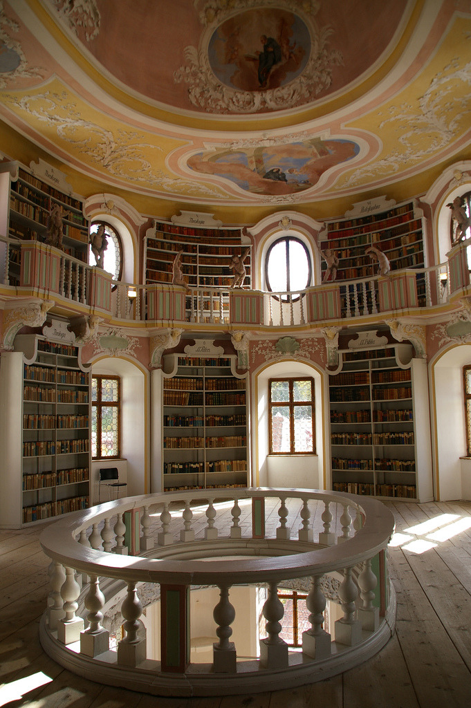 Old library in Füssen, Germany