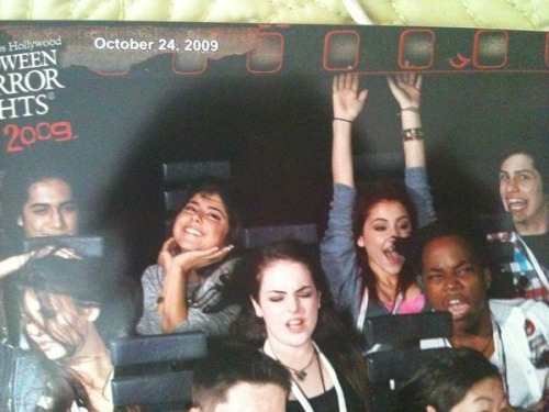 "stellarbee:  OMG, I died when I saw this. Avan is just like ""Looool"", Daniella looks all cute, Ariana's having fun, Liz and Leon look like they're scared as shit, and Victoria looks like she's at a photo shoot. And then there's that creepy guy in the top right corner….LOLS!  ^^ Bluhhahaha"