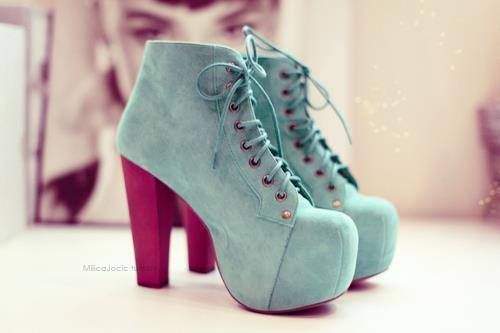 Jeffrey Campbell's Lita in Mint Suede available here!