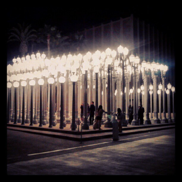 Urban Lights at LACMA. Our movie moment! #nostringsattached (Taken with instagram)