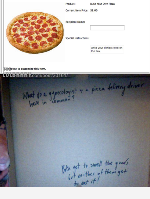 Awesome Pizza Place is AwesomeFollow this blog for the best new funny pictures every day