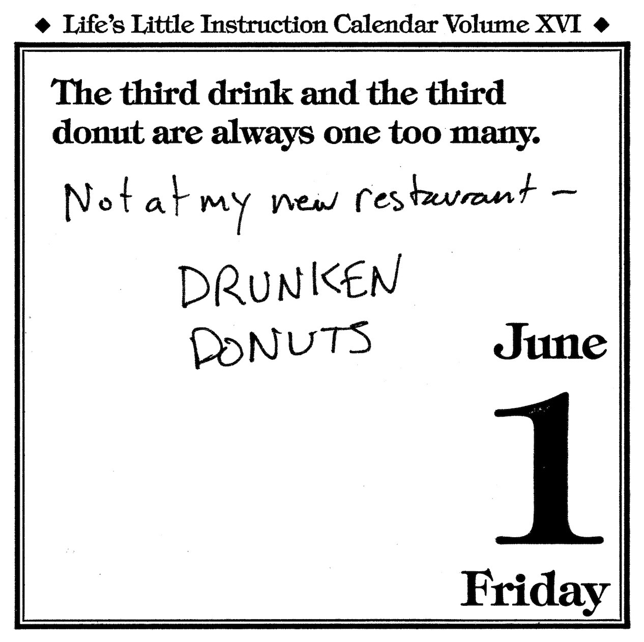 Happy National Donut Day! See lazydad, the counter revolution to your Orwellian food future is here. The gluttonous shall inherit the earth. Since some of us (points finger at myself) are already under the regime's healthy food mind control, subversively have one for me…one of the fallen ones.