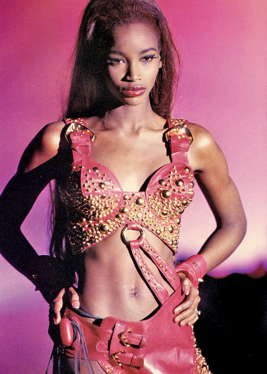 black-model-famous:  Beverly Peele,Thierry Mugler Spring/Summer 1992