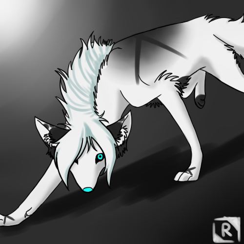 Giruka on the prowl~!  Art by Me(Explikit @ dA)