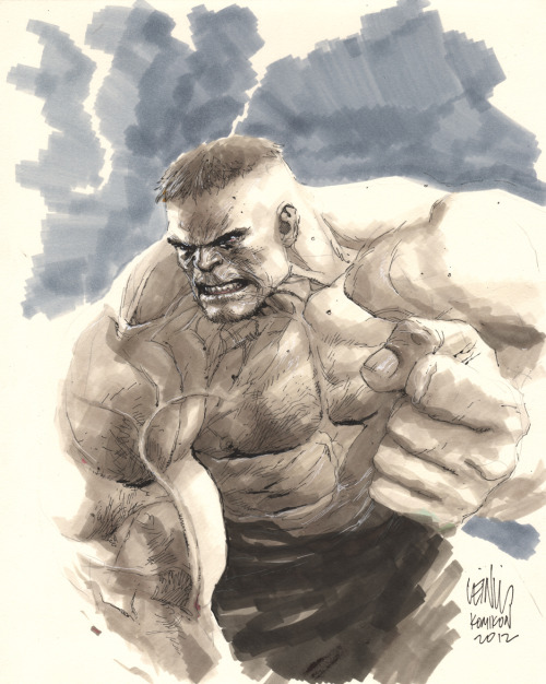 The Hulk leinilyu:  hulk markers for a local charity for kids.
