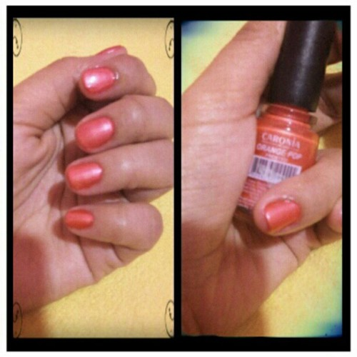Orange pop for my nails…