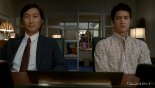 "GLEEThis screenshot was taken from the Glee episode, Asian F. In this episode, Mike Chang receives an A- (also known as ""an Asian F"") in his Chemistry exam and deals with his father's high academic expectations. Because of the A-, his father believes Mike is either taking drugs or is distracted (by his girlfriend, Tina, and the Glee Club). He tries to persuade Mike to get rid of his dream of becoming a dancer and pursue a career as a Doctor (a profession that is linked with Asian Americans). In the first 10 minutes of the episode, it is evident that Mike Chang portrays the Model Minority Myth. He is intelligent, involved in several extracurricular activities, talented, and is pressured to stay on top of his academics.The white-black binary is also shown in the episode. Although it is titled ""Asian F,"" the episode primarily focuses on the events that included non-Asians: the class presidential elections between Rachel, Kurt, and Brittany(all White), and the sing-off between Rachel (White character) and Mercedes (African American)."