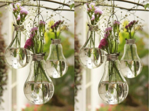 Such a simple upcycling idea! Turn old light bulbs into hanging planters. Check out all our great recycling tips now! Follow us on Tumblr