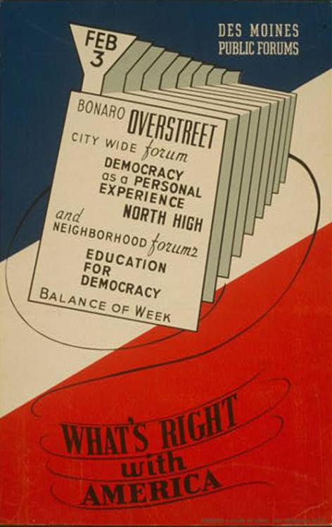 Via the Iowa Art Program, a division of the Works Progress Administration, 1936-1941