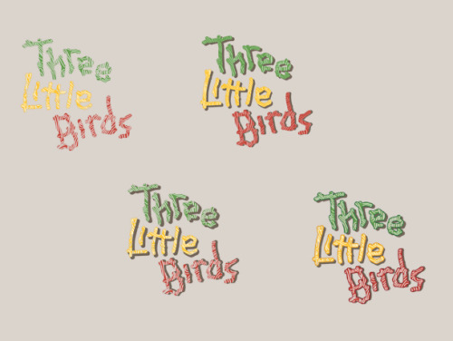 Three Little Birds logotype comps Three Little Birds - a Jamaican affiliated jewelery vendor named after the Bob Marley tune Three Little Birds. Sending off to the client now!
