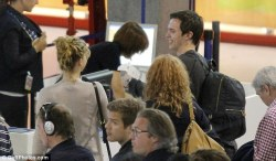 Jennifer and Nicholas at the airport in Nice, May 27 :)