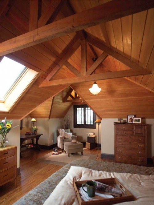 homedesigning:  Cool Attic Spaces and Ideas