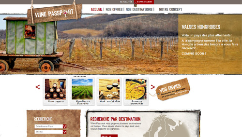 Wine Passport | Designed by Caroline Viphakone @ Canal Web agency