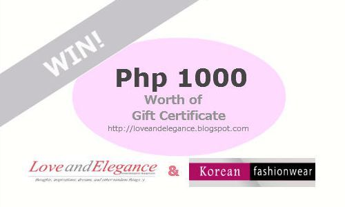 love-and-elegance:  WIN A 1000 PHP GC FROM KOREAN FASHIONWEAR AND LOVEANDELEGANCE! join here.
