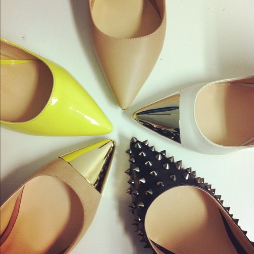 glamour:  Perfect pointy flats.