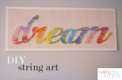 homeandhearth:  DIY String Art Tutorial  Truebluemeandyou: Really good tutorial from Honey & Fitz using embroidery floss. For other string art projects (heart, state, words) go to: truebluemeandyou.tumblr.com/tagged/string-art