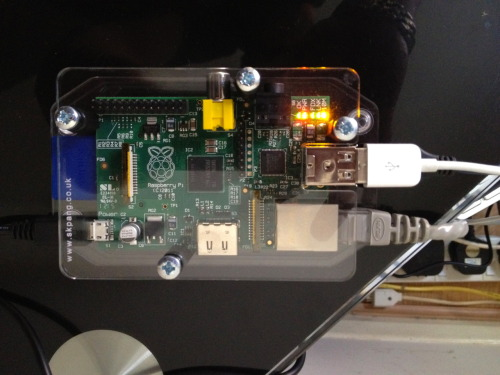 Give Your Pi a Home: I found a new home for my RasPi. It's actually a really neat little case and the Pi fits snuggly inside making setup and use easier and safer. There are not many cases out there yet for the Raspberry Pi, but this one from the UK is not bad for a starter. If you're interested you can get them from here: http://www.skpang.co.uk/catalog/raspberry-pi-cover-basic-shape-clear-p-1097.html