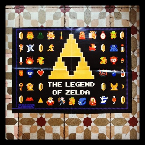 gameandgraphics:  Zelda poster from a past issue of Electronic Gaming Monthly magazine. Photo by Game & Graphics.
