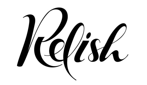 typeverything:  Typeverything.com - Lettering for Relish label by Andy J Martin.