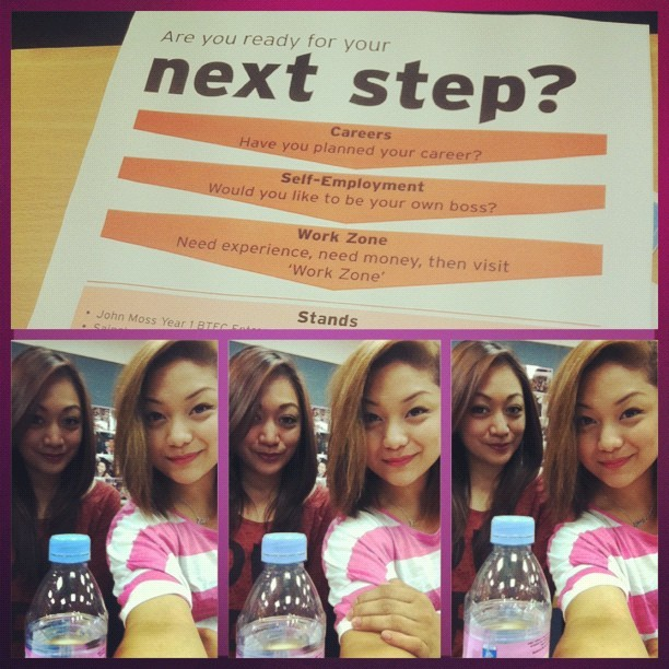Welcome to our event! :))) THE NEXT STEP :)) Haha :P (Taken with Instagram at Hammersmith College)
